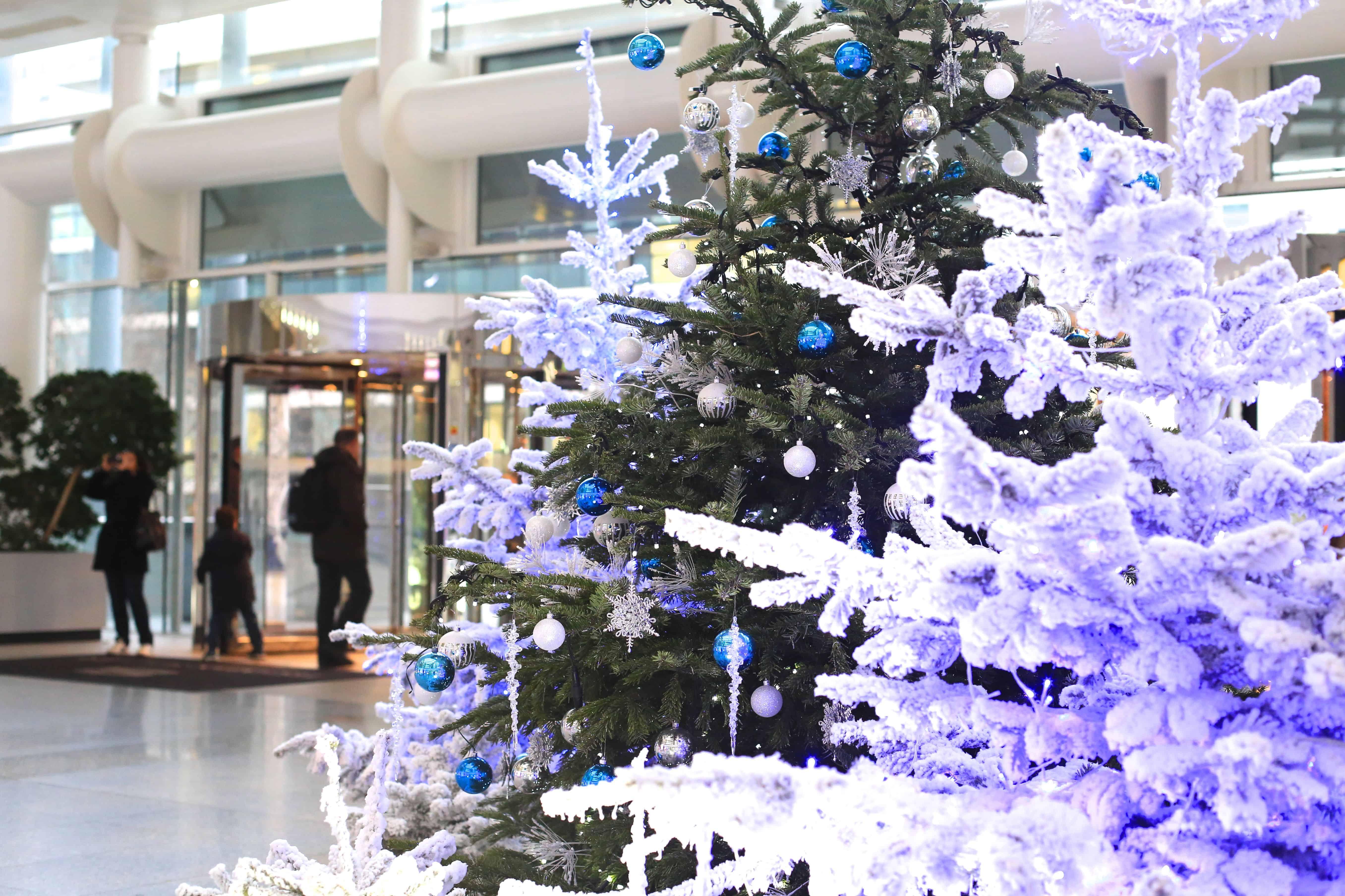 Décoration de Noël en entreprise (sapins français)