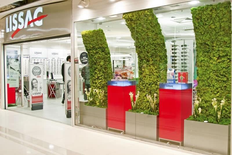 point de vente végétalisé et vitrine végétale par Green Decor