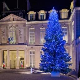 Décoration de Noël Palais de L'Elysée par Green Decor