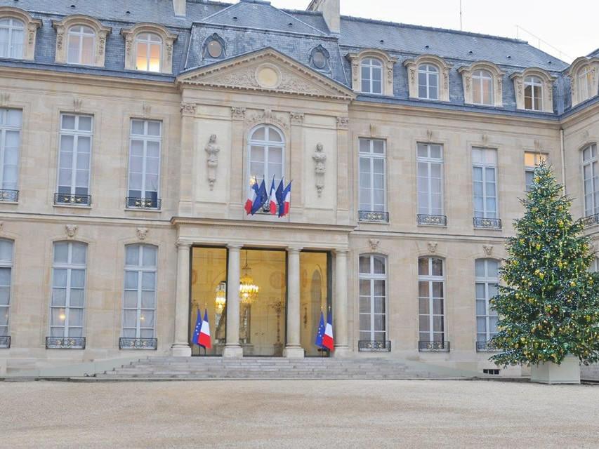 Décoration de Noël au Palais de L'Elysée par Green Decor