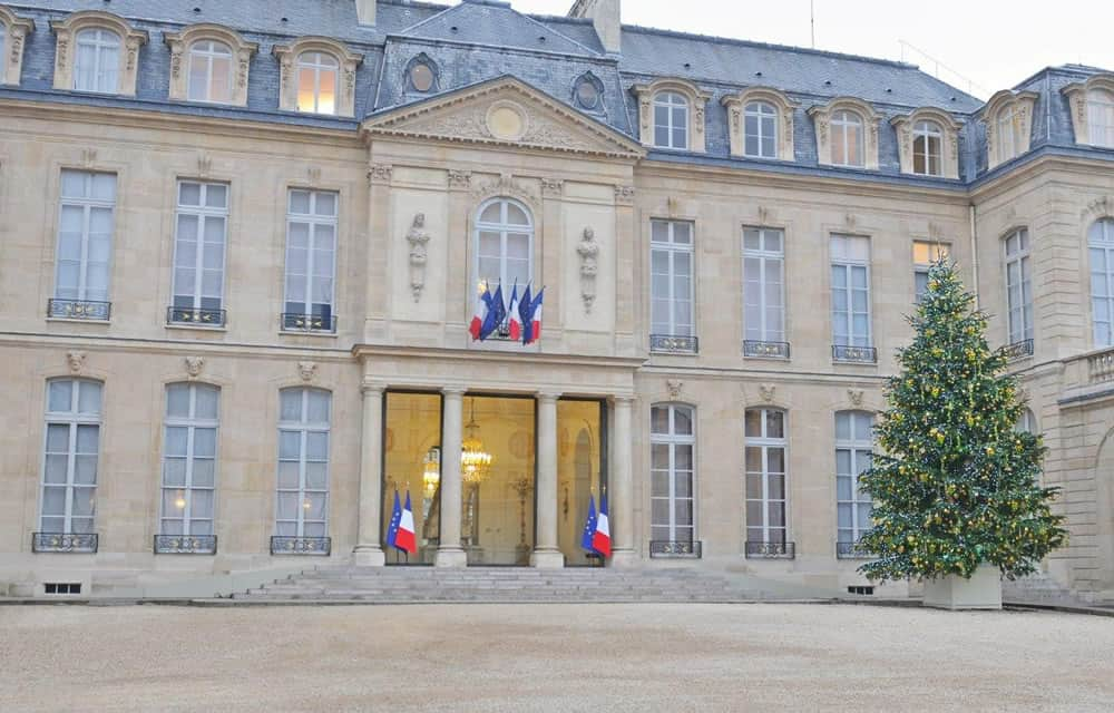 Décoration de Noël au Palais de L'Elysée par Green Decor