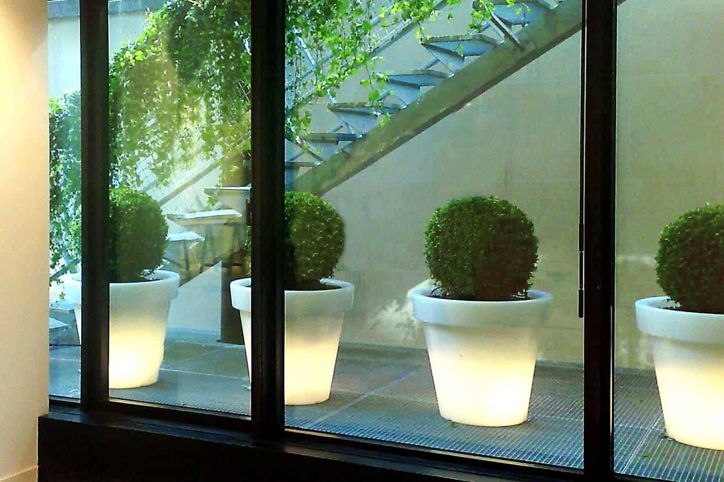 paysagiste d'intérieur, pots lumineux et location de plantes pour les entreprises Green Decor