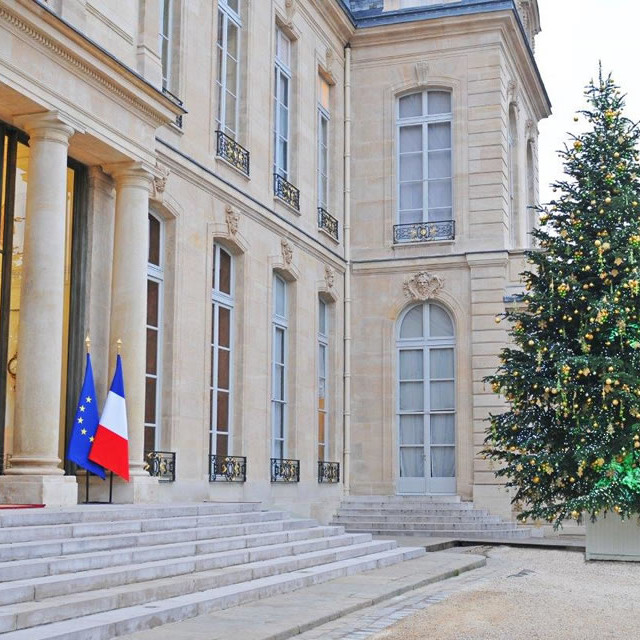 Décorations de Noël au Palais de L'Elysée par Green Decor